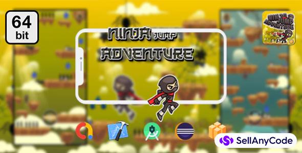 Ninja Jump Adventure 64 bit - Android IOS With Admob