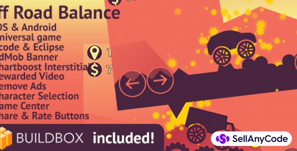 Off Road Balance: BuildBox Game (Easy Reskin)