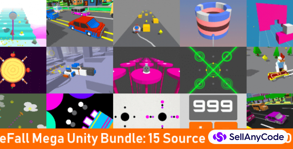 Onefall Games Mega Unity Bundle – 15 Game Templates