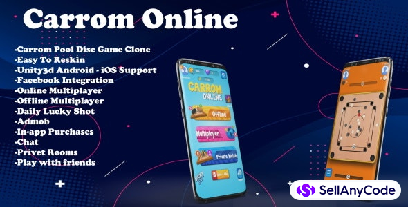 Online Carrom Game Source Code