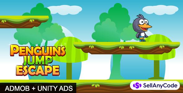 Penguin Jump Escape Source Code Admob Unity Ads