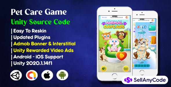 Pet Care Game Source Code (Admob + Unity Ads)