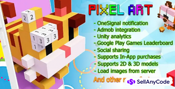 Pixel Art – Number Coloring 3D + 2D + Full Monetization features