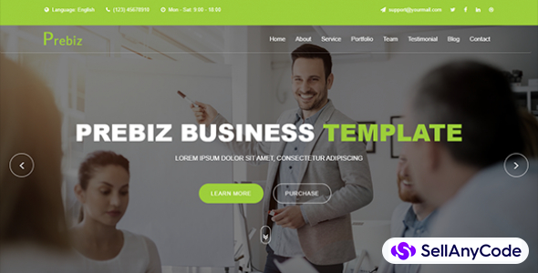 Prebiz Digital Corporate Business Template