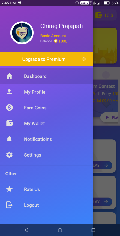Quiz App - Android App + Admin Panel With Earning System