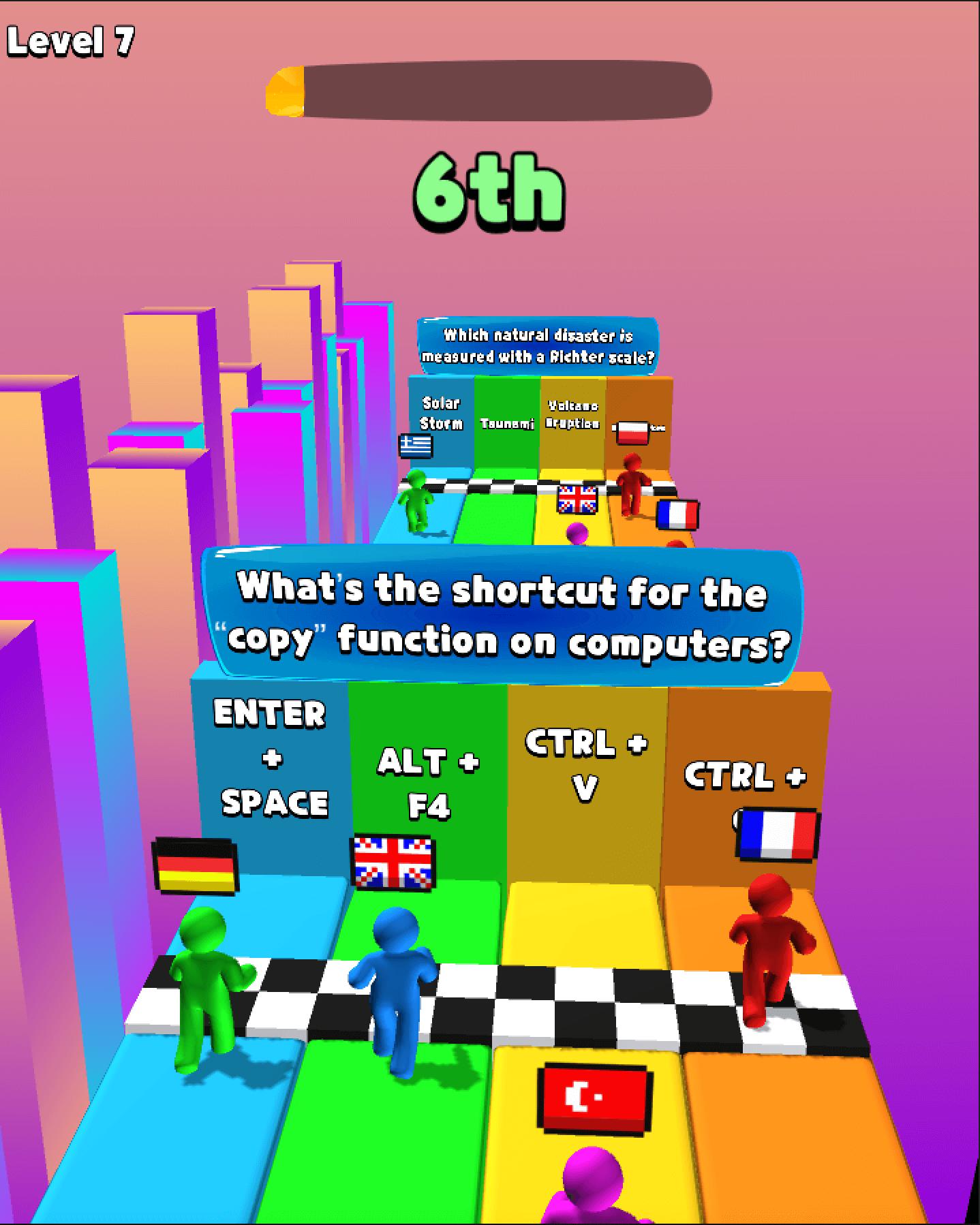 Quiz Rush.io Hyper Casual game