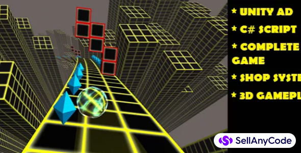 ROLLING BALL 3D _ COMPLETE GAME WITH CURVE EFFECT