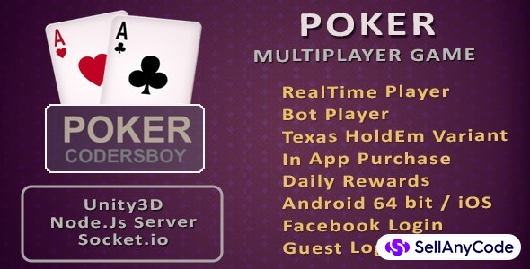 Real Money Poker Game Source Code