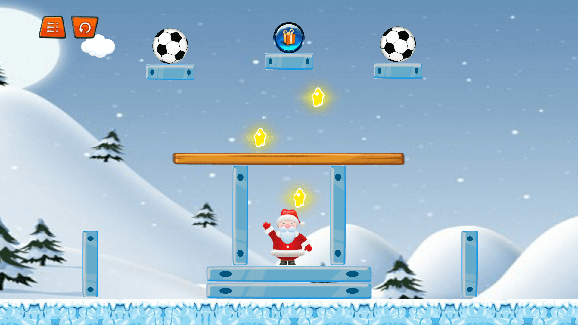 Santa's Gift Physic Puzzle Game
