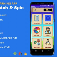 Scratch & Spin to Win Android App with Earning System (Admob, Facebook bidding, StartApp, Unity Ads)