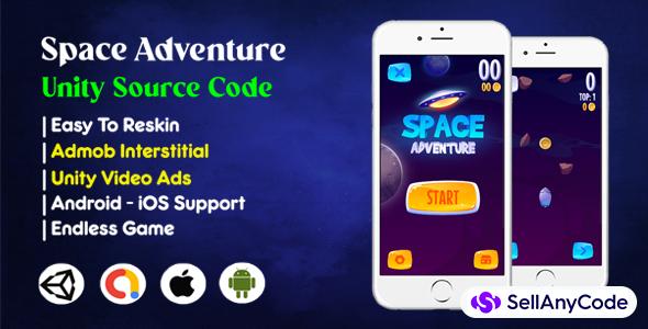 Space Adventure Unity Source Code (Admob+Unity Ads)