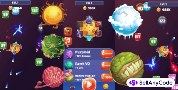Space Defender – Hyper Casual Unity Game