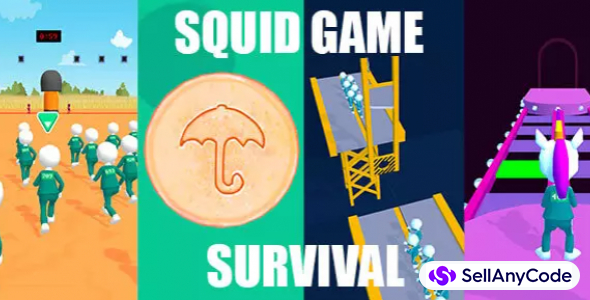 SQUID SURVIVAL Game with All 4 Games