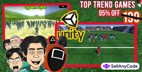 Squid game: special Unity Bundle 2 top trend games