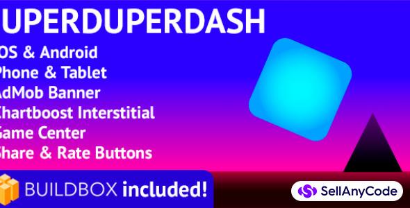 SuperDuperDash: BuildBox Game (Easy Reskin)