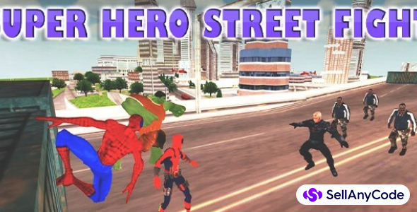 Super Heroes Street Fights : Crime City Battle 64 Bit
