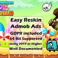 Super Jungle Adventure Santa World 2021 - Full Unity Game GDPR ADMOB ADS