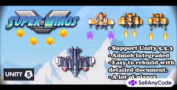 Super Wings – Planes Shooter Unity