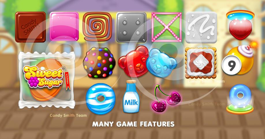 Sweet Sugar Match 3 Mini Game