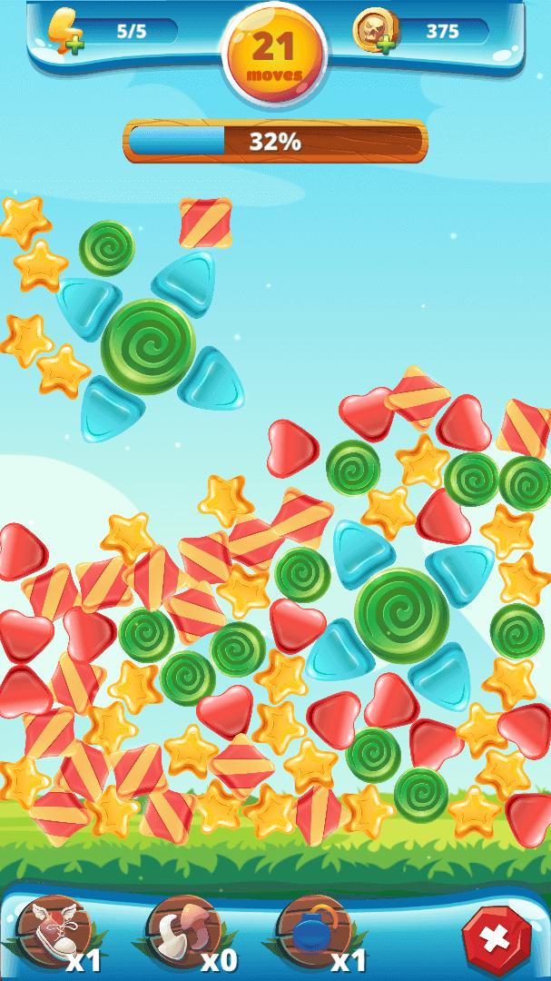 Sweety Shapes Physics Match3