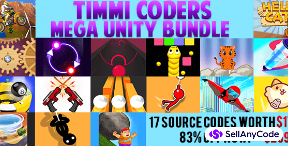 Timmi coders MEGA Unity Bundle – 17 source codes