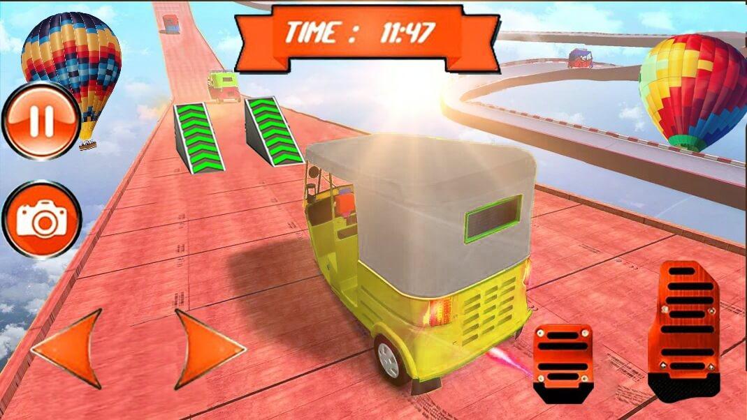Tuk Tuk Auto Rickshaw Mega Ramp Stunt Impossible Track 64 Bit