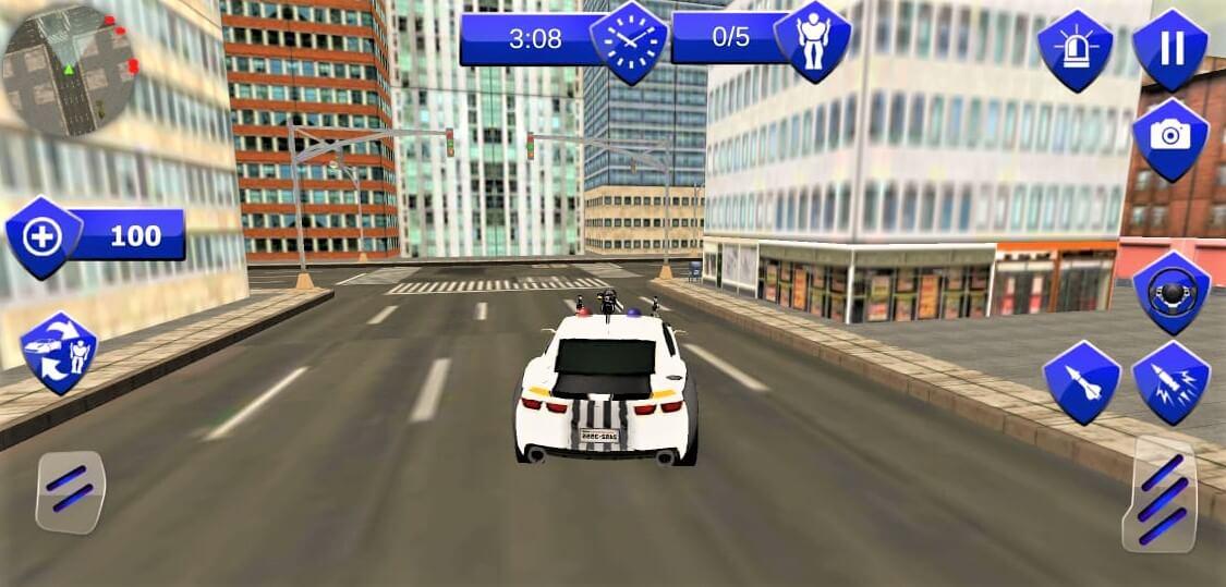 US Police Robot Car Revenge Transform 64 Bit Source Code