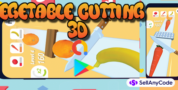Vegetable Cutting 3D With Optimized Admob Ads