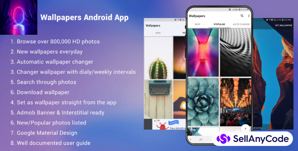 Wallpapers Android App - with Admob