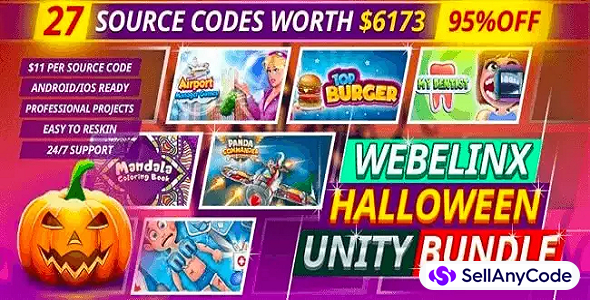 Webelinx Halloween Epic Unity Bundle Offer: 27 Premium Games -95% OFF NOW!