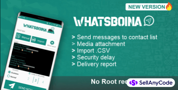 WhatsBoina - Whatsapp Marketing Bulk and Chatbot Android