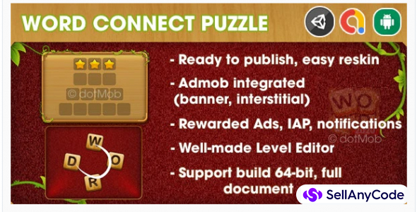 Word Connect Puzzle - Unity Template Project (Android + iOS + AdMob + Notification)