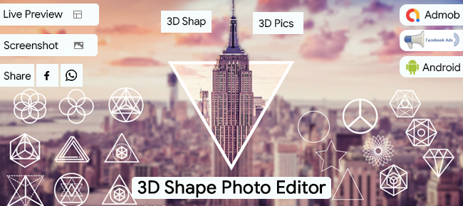 3D Shape Photo Editor