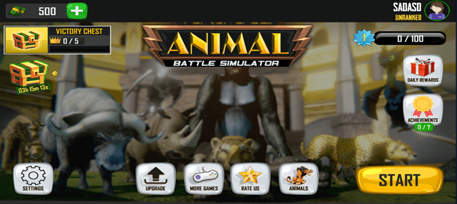 Animal Battle Simulator