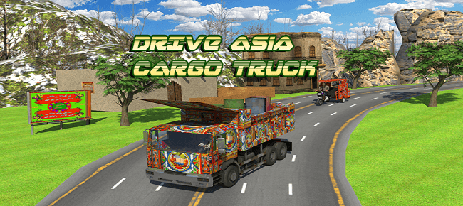 Asian Cargo Truck Transport