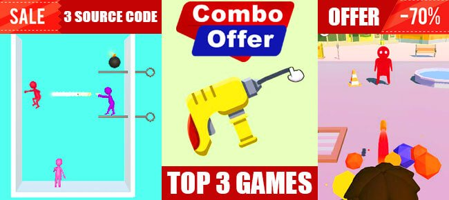 Best Combo Bundle | 3 TOP Trending Games worth $337 USD -70% OFF! - Sell My App