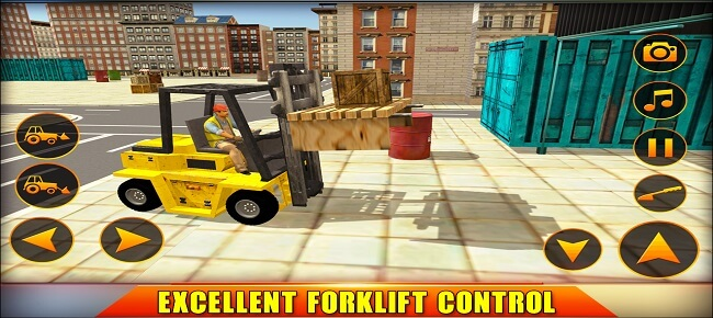 City Forklift Cargo Simulator