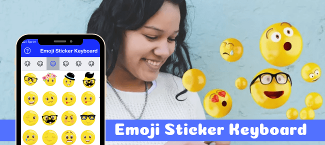 Emoji Sticker Keyboard iOS