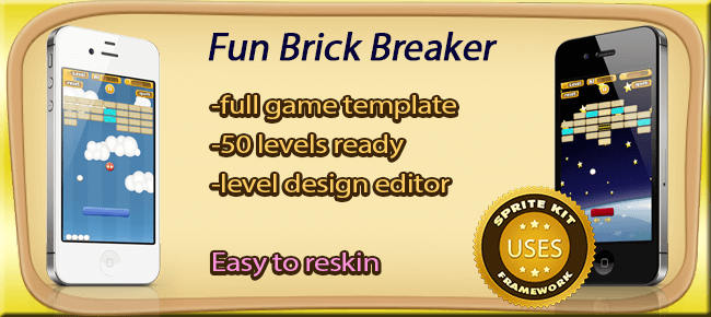 Fantastic Brick Breaker Template - Sell My App