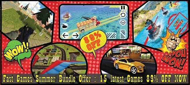 Fast Games Summer Bundle Offer: 15 Latest Game Templates -89% OFF NOW! - Sell My App