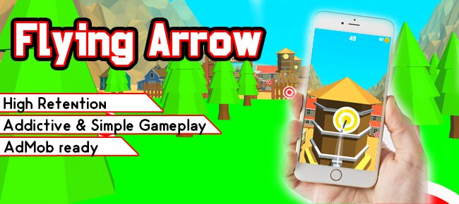 Flying Arrow Trending Game Template - Sell My App