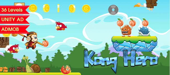 Kong Hero Platformer Unity Template - Sell My App