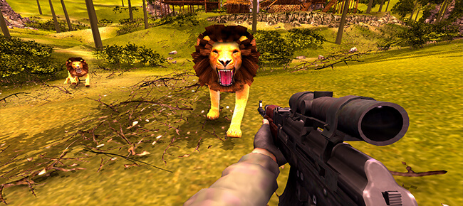 Lion Hunting FPS Hero