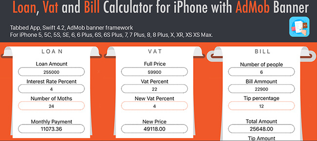 Loan, Vat & Bill Calculator
