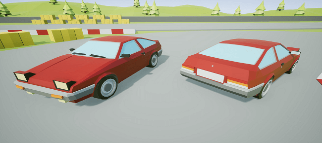 LowPoly Stunt Car Racing