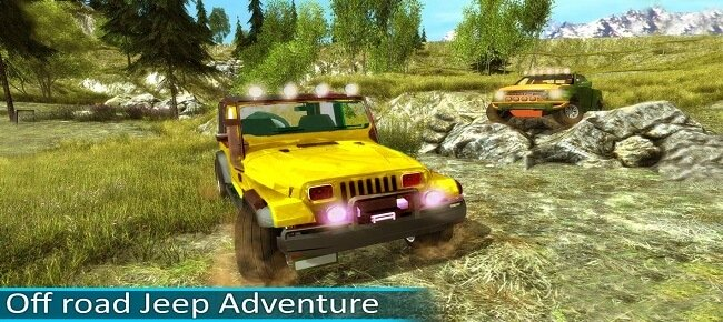 Offroad Jeep Driving