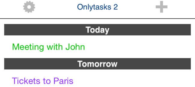 Only tasks