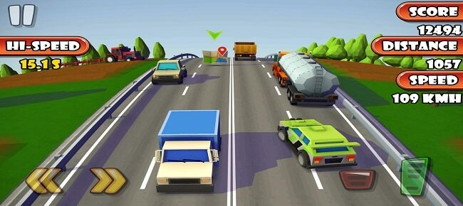 Pixel Traffic Racing 3D