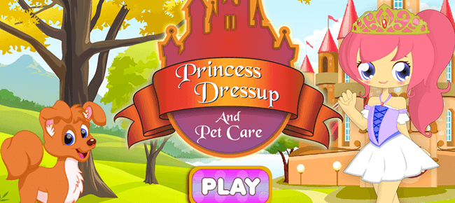 Princess Dressup/Pet Care