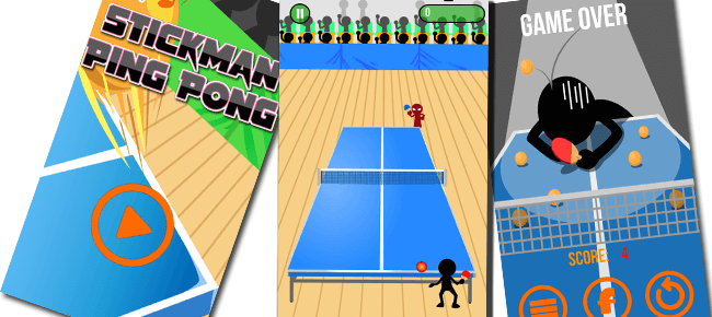 Stick Man Ping Pong